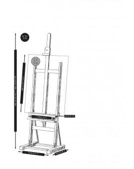 Mabef M09 - Basic Schildersezel met tablet in geolied beukenhout