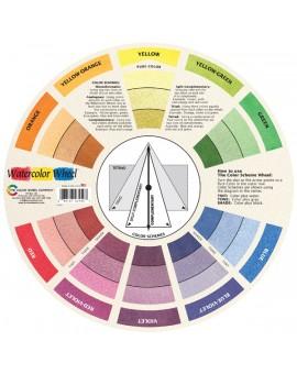 Watercolor Wheel kleurenmengcirkel - vooraanzicht