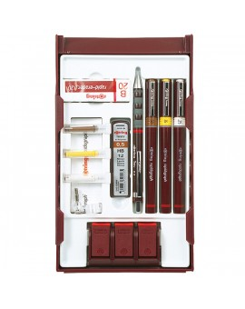 Rotring College Set 3 pennen Rapidograph + toebehoren