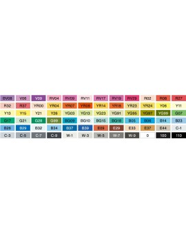 Copic Marker Color set A - 72 kleuren