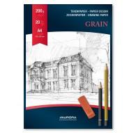 Aurora Grain 200gr - blok gekorreld tekenpapier