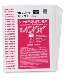 Badger Masking Film Gloss - pak 10 vellen (8x11 inch)