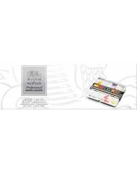 W&N 12 halve napjes - Professional Water Colour Black Box