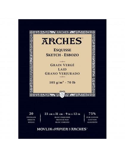 Arches Esquisse - blok schetspapier Grain Vergé - 23x31cm