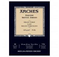 Arches Esquisse - blok schetspapier Grain Vergé