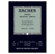 Arches Dessin - blok tekenpapier extra wit