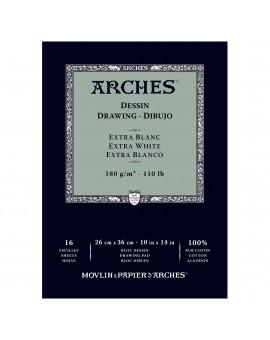 Arches Dessin - blok tekenpapier extra wit - 23x31cm