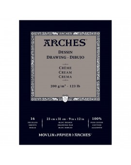 Arches Dessin - blok tekenpapier crème - 23x31cm