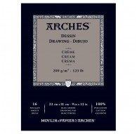 Arches Dessin - blok tekenpapier crème