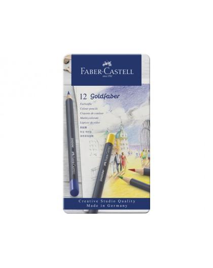 Faber Castell - Goldfaber in metalen etui 12 stuks