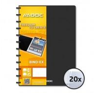 ADOC BIND-EX A4 ZWART met 20 transparante showtassen