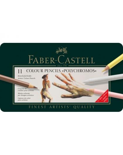 Faber-Castell - Polychromos 11 huidskleuren in metalen etui