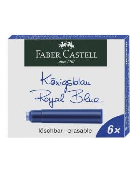 Faber Castell inktpatronen - blauw uitwisbaar