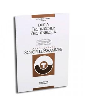 Schoellershammer Durex (Duria) Glatt - blok tekenpapier 200gr/m²