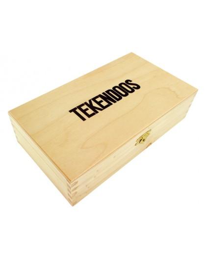 Tekendoos in ongelakt hout 25x14x6,5cm