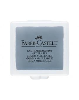 Faber Castell grijze kneedgom in plastic doosje