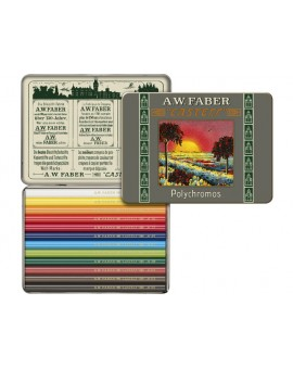 Faber Castell Limited edition Polychromos bliketui 12 ongeslepen kleurpotloden