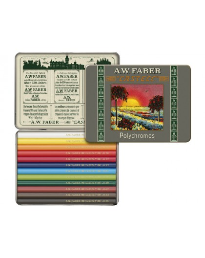 Faber Castell Limited edition Polychromos bliketui 12 ongeslepen kleurpotloden