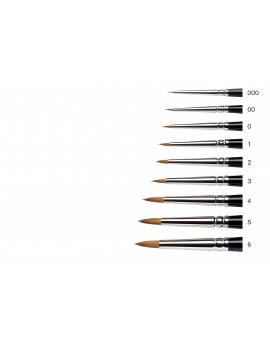 Serie 7 'Miniature' nr 6 Kolinsky marterharen penseel