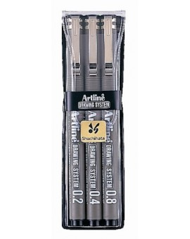 Artline Drawing System set 0.2-0.4-0.8