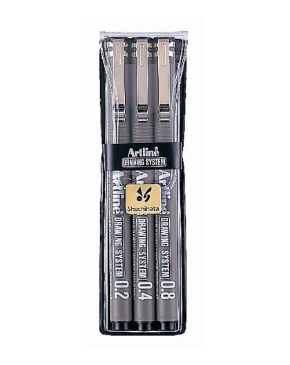 Artline Drawing System set 0.2-0.4-0.8