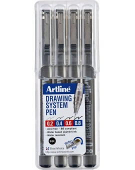 Artline Drawing System set 0.2-0.4-0.6-0.8