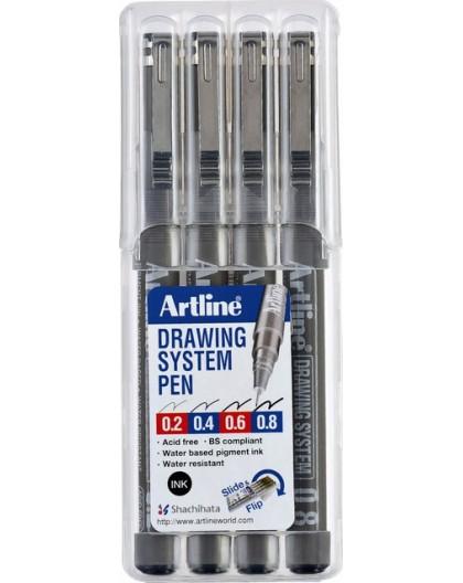 Artline Drawing System set 0.2-0.4-0.6-0.8