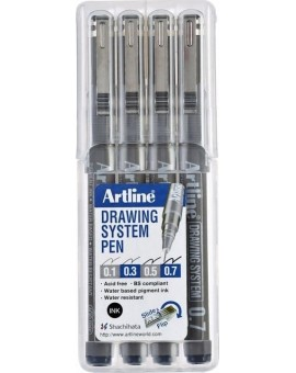 Artline Drawing System set 0.1-0.3-0.5-0.7