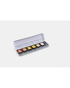 Finetec Pearlescent aquarelverf set van 6 kleuren