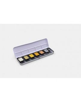 Finetec Pearlescent Premium aquarelverf set van 6 kleuren