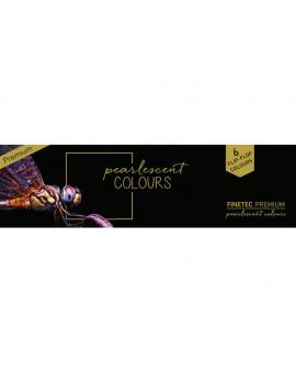 Finetec Pearlescent Premium Flip-Flop aquarelverf set van 6 kleuren