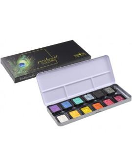 Finetec Pearlescent aquarelverf set van 12 kleuren + 1 extra