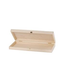 Penselendoos in ongelakt hout 27x8x4cm