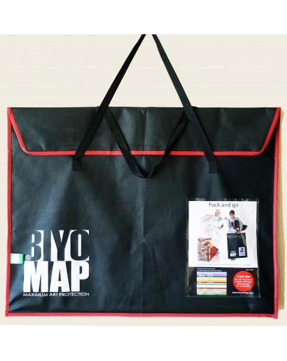 Biyomap portfolio 60x80cm (burgundy rood)