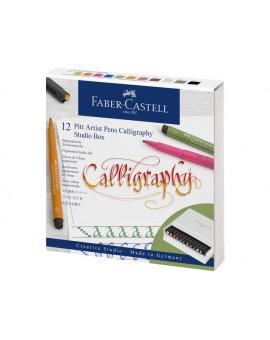 Faber-Castell Pitt Kalligrafieset in studiobox - 12 kleuren