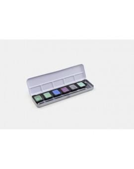 Finetec Pearlescent, aquarelverf set van 5 Pearlescent + 1FlipFlop kleuren
