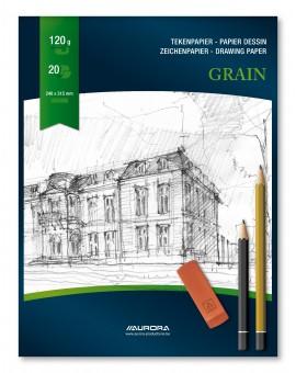 Aurora Grain 120gr - blok gekorreld tekenpapier