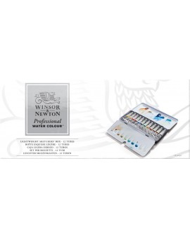 W&N 12 tubes 5ml - Professional Water Colour lightweight box