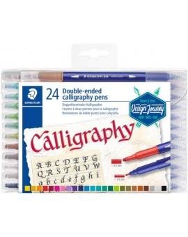 Staedtler set kalligrafiestiften met dubbele punt - set 12