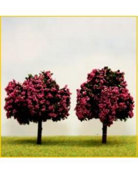 ER Decor Vruchtbomen in bloei - 7cm - wit