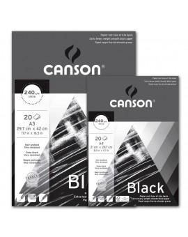 Canson Vivaldi blok zwart papier A3 (29,7x42cm)