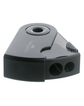 Faber-Castell - dubbele potloodslijper 'sleeve' zwart