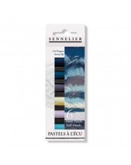 Sennelier Ciel Orageux - set 6 halve Pastels à l'Ecu