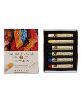 Sennelier oliepastels - set 6 kleuren Découverte