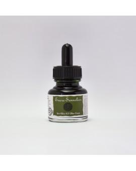 Olijfgroen 813 - Sennelier schellak inkt 30ml