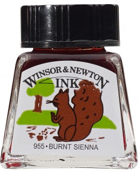 W&N Drawing ink 14ml - Burnt Sienna