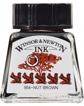 W&N Drawing ink 14ml - Nut Brown