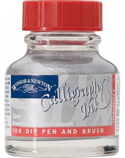 W&N Calligraphy ink 30ml - Metallic Silver