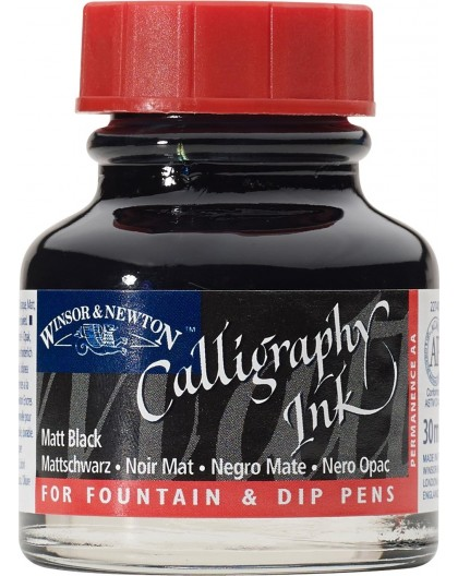 W&N Calligraphy ink 30ml - Matt Black