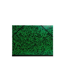 Tekeningenmap met elastiek - groen gemarmerd